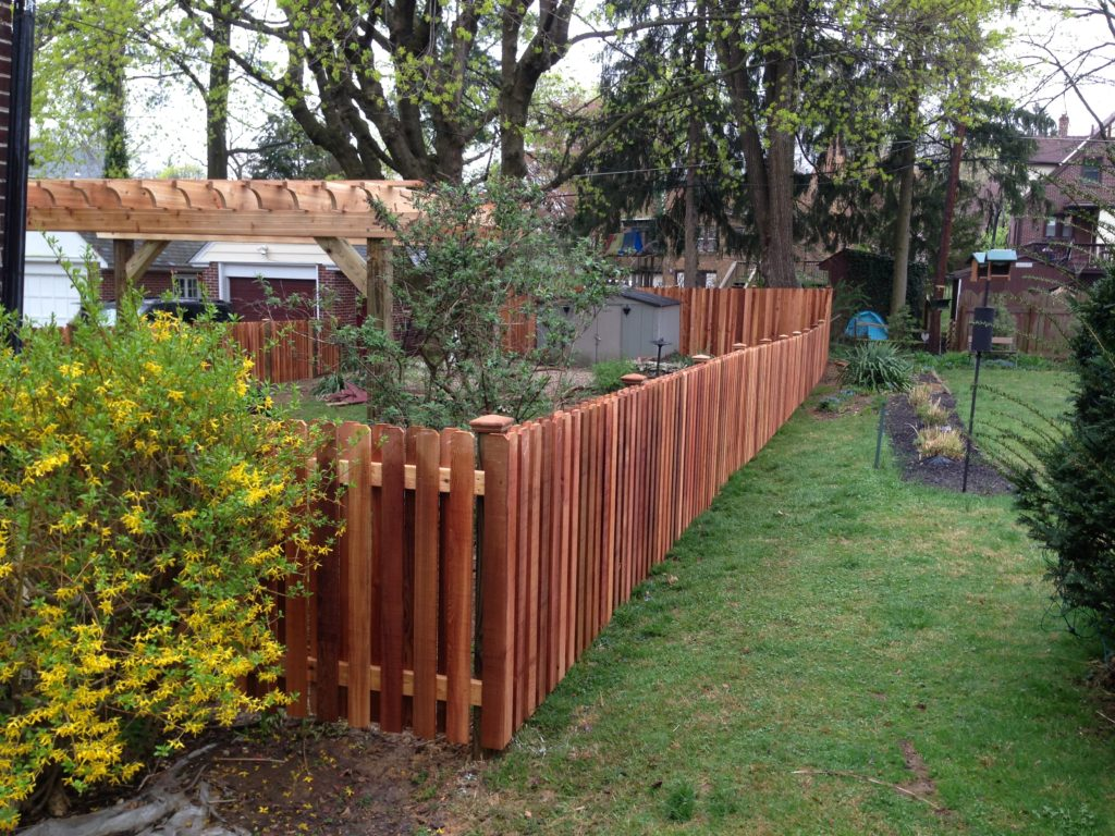 4ft Cedar Shadowbox With Pergola Aka The Fence Company