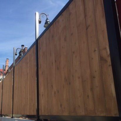 Fencetrac Steel Frame White Cedar Panels Aka The Fence